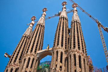 La Sagrada Familia - the impressive cathedral designed by Gaudi