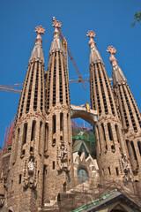 La Sagrada Familia - the impressive cathedral designed by Gaudi
