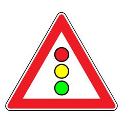 Papier Peint - Verkehrsschild - 131 Lichtzeichenanlage