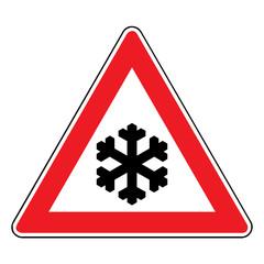 Papier Peint - Verkehrsschild - 113 Schnee- oder Eisglätte