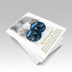 Libro con ilustraciones 3d de bolas de Navidad