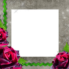 Old decorative background with roses