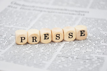 Presse Schriftzug