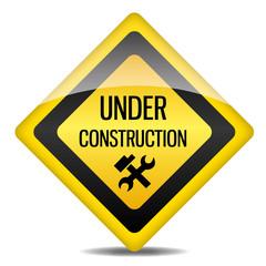 Achtung Warnung Schild Under Construction Werkzeug