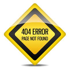 Achtung Warnung Schild 404 Error Page not found