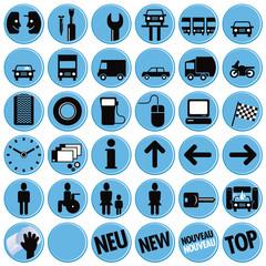 Werkstatt, Garage, Auto, Service, Werbung, Symbole