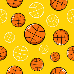 Seamless basketball vector pattern
