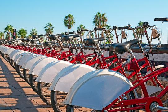 Public bike rental  in Barcelona.
