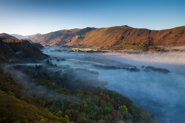 Borrowdale Valley in the mist