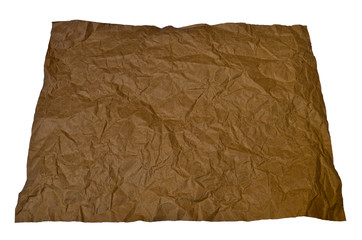 ิbrown paper isolated on white background