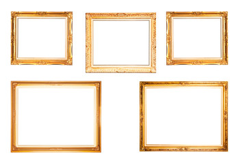 collection of gold picture frame