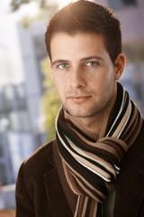 Closeup portrait of trendy guy