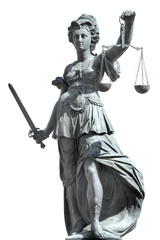 justitia incl. clipping path