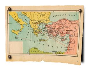 Alte Mittelmeerkarte