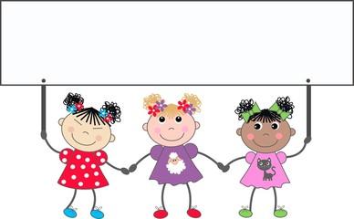 mixed ethnic girls