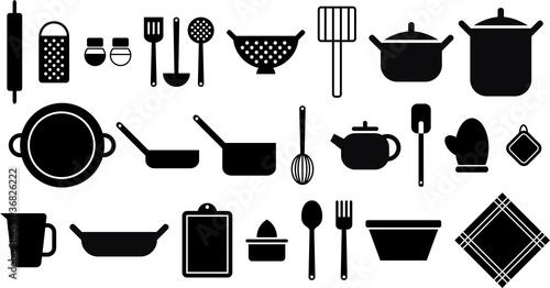Iconos de utensilios de cocina im genes de archivo y for Utensilios de cocina licuadora