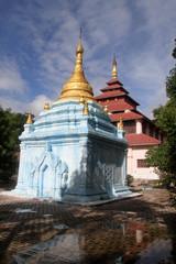 Brick blue stupa