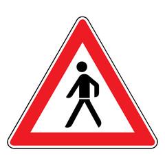 Papier Peint - Verkehrsschild - 133 Fußgänger