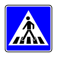 Papier Peint - Verkehrsschild - 350 Fußgängerüberweg