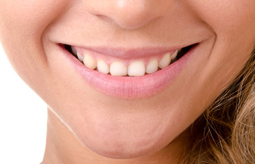 woman smiling close-up