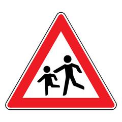 Papier Peint - Verkehrsschild - 136 Kinder