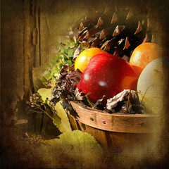 Coun try Basket of Apples
