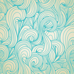 Retro swirls seamless pattern