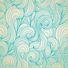 Retro swirls seamless pattern