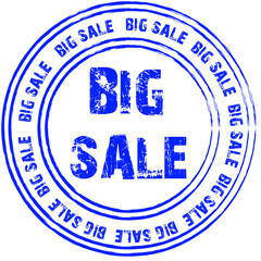 Blue vector stamp for big sale