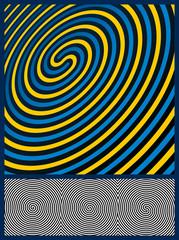 Poster de jardin Psychedelique Optical Illusion Background. Three spiral patterns. Vector Illus