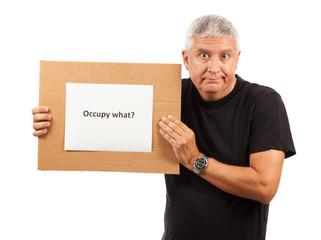 Occupy Movement Man