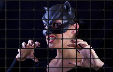 catwoman frau jung sexy verführerisch