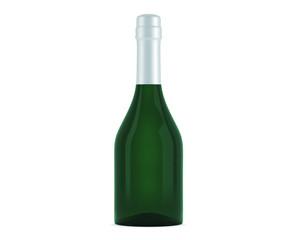 Champagner Flasche Grün