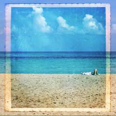 Relax al mare, texture retro