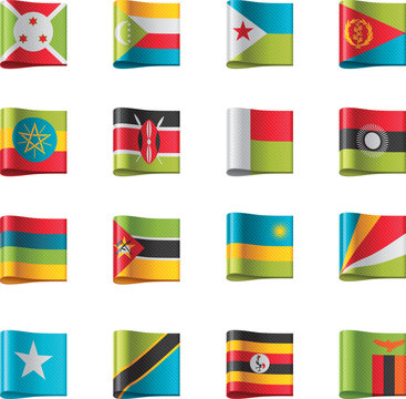 Vector flags. Africa, part 9