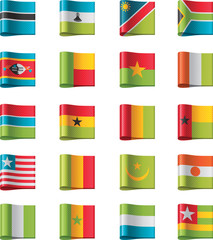 Vector flags. Africa, part 11