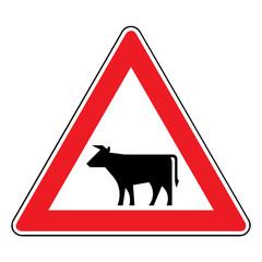 Papier Peint - Verkehrsschild - 140 Viehtrieb, Tiere