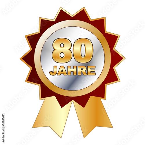 80 Jahre Schild Siegel Aufkleber Stockfotos Und