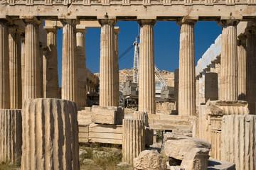 Parthenon under restoration