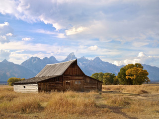 Grand Tetons and the Mouton Barn, Wyoming