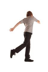 Kind in Bewegung beim laufen und tanzen