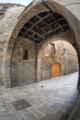 Barcelona's gothic quarter - Montjuic del Bisbe street