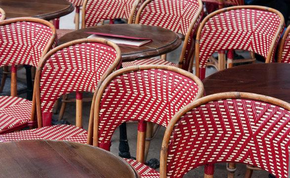 Restaurant terrace in Paris