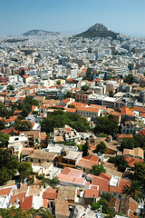 Athens cityscape from Acropolis hill,Greece