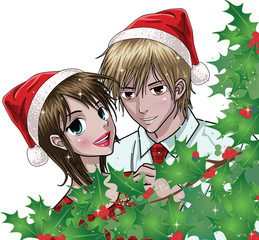 Christmas Couple - Anime Style