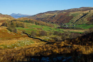 Watendlath valley in the English Lake District