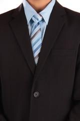 Anzug und blaue Krawatte