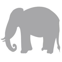Profil Éléphant Vectorisé