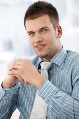 Portrait of casual office worker smiling