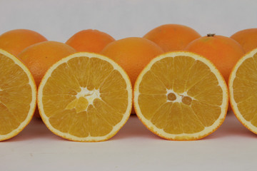 Spoed Foto op Canvas Plakjes fruit Orangen